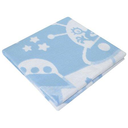 Одеяло байковое Ермошка Космос Голубое 57-8 ЕТЖ