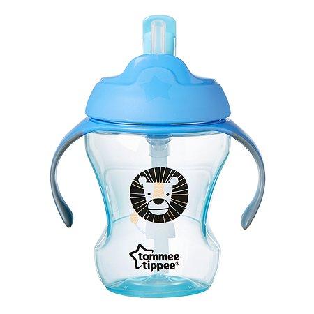 Чашка-непроливайка Tommee tippee с трубочкой 230мл с 6месяцев Голубая 44701587-2