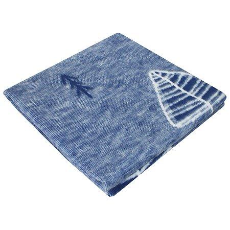 Одеяло байковое Ермошка Лес Сумеречно-Синее 57-8 ЕТЖ Премиум