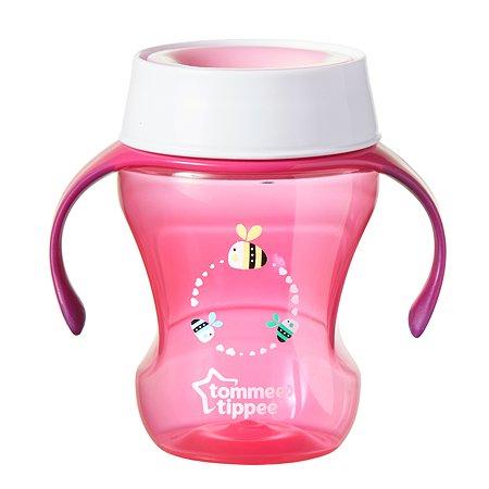 Чашка-непроливайка Tommee tippee 230мл с 6месяцев Розовая 44703591-1