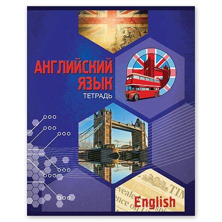 Тетрадь тематическая Полиграф Принт Английский язык А5 Клетка 48л 9876