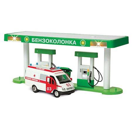 Бензоколонка Технопарк с машиной