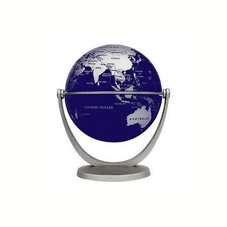 Глобус политический Ди Эм Би 10 см серебряный металлик
