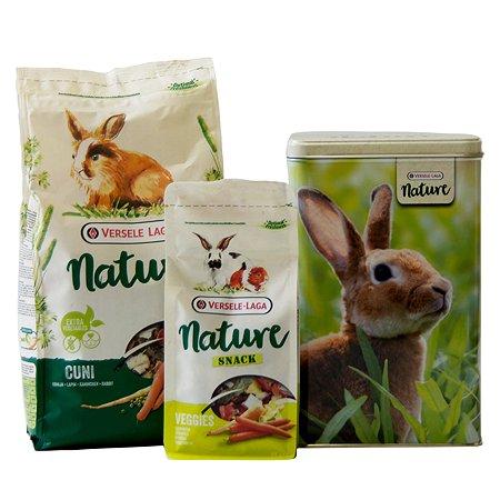 Корм для кроликов Versele-Laga Nature Cuni кс лакомством и контейнером 461185