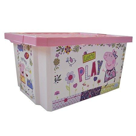 Детский ящик для хранения Little Angel 17л  Cute Peppa