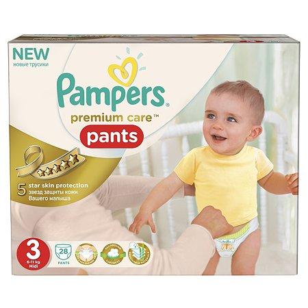 Подгузники-трусики Pampers Premium Care Средняя 6-11кг 28шт