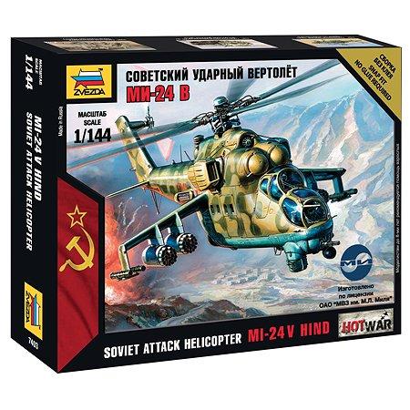 Модель для сборки Звезда Советский вертолет МИ-24В