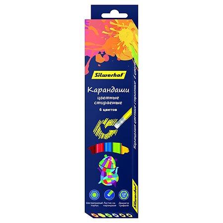 Карандаши цветные Silwerhof 6цветов 1021219