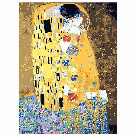 Холст для рисования по номерам Рыжий кот Г Климт поцелуй Х-6538