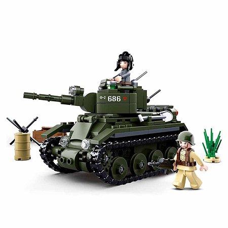 Конструктор SLUBAN Танк 1 348деталей M38-B0686