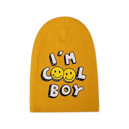 Шапка BabyGo жёлтая