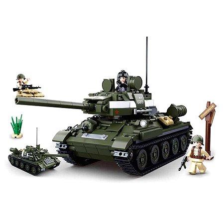 Конструктор SLUBAN Танк 3 687деталей M38-B0689