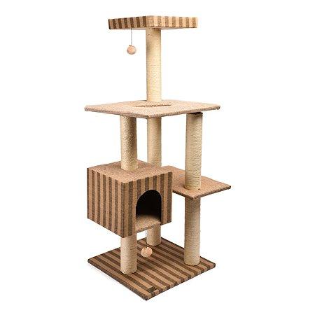 Площадка игровая для кошек FAUNA Tomme Бежевый-Коричневый FICP-500-9207