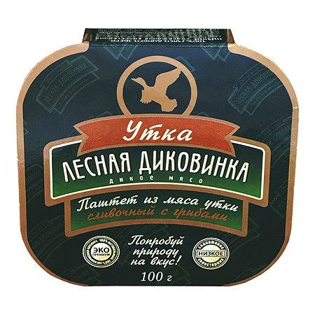 Паштет Лесная Диковинка сливочный мясо утки-грибы 100г