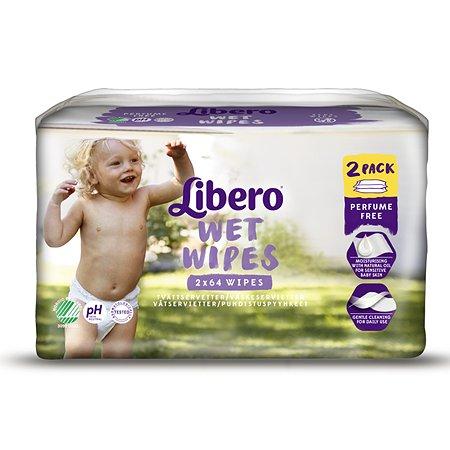 Салфетки влажные Libero Libero Wet Wipes Экономичная упаковка 128шт