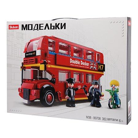 Конструктор SLUBAN Классический транспорт Лондонский автобус M38-B0708