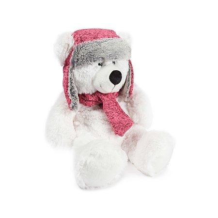 Игрушка мягкая Девилон Медведь Ефим в шапке с шарфом Белый 1116615