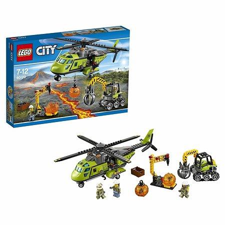 Конструктор LEGO City Volcano Explorers Грузовой вертолёт исследователей вулканов (60123)