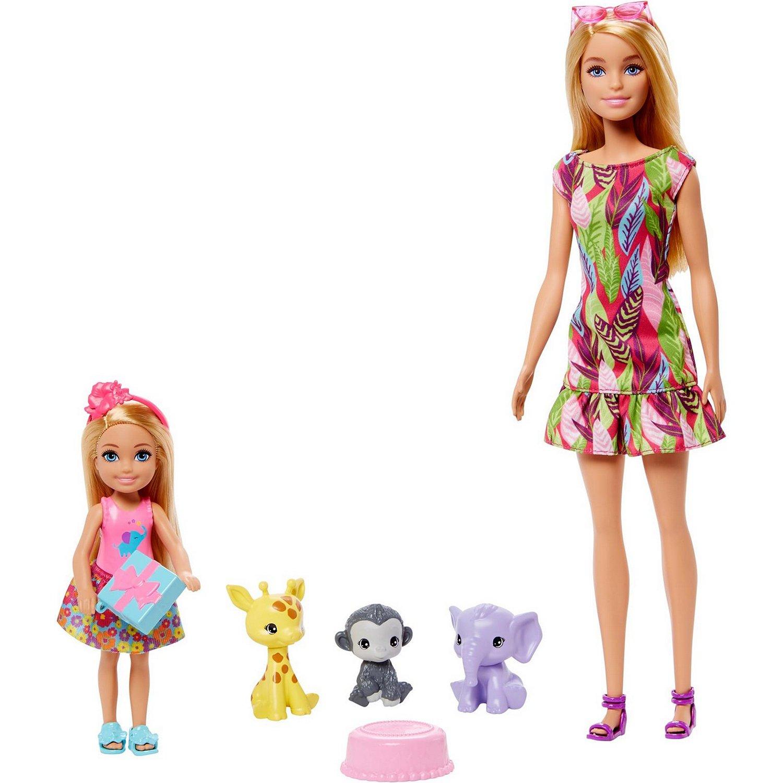 Набор игровой Barbie 2куклы +3питомца GTM82