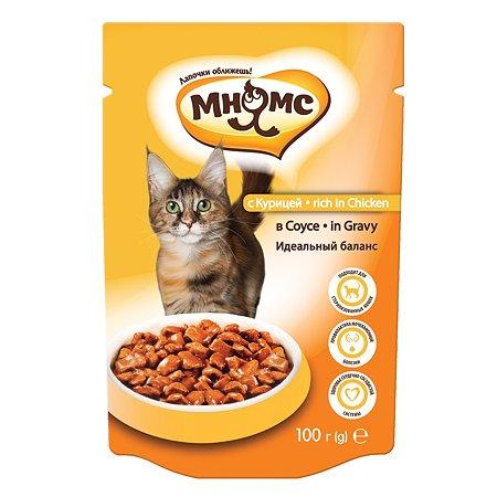 Корм влажный для кошек Мнямс 100г с курицей в соусе Идеальный баланс для взрослых пауч