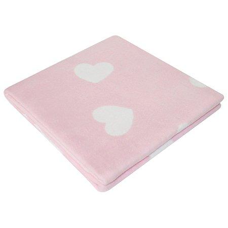 Одеяло байковое Ермошка Сердечки Фламинго 57-8 ЕТЖ Премиум