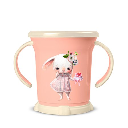 Чашка для сухих завтраков Пластишка 270мл с 12месяцев Розовый