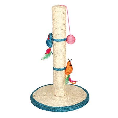 Когтеточка для кошек Triol Столбик №207 +2мышки+шарик 20851017