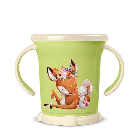 Чашка для сухих завтраков Пластишка 270мл с 12месяцев Зеленый