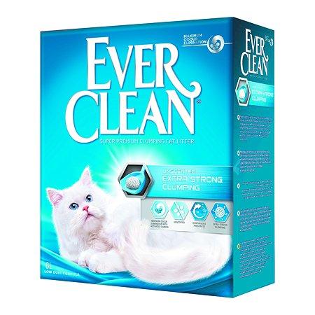 Наполнитель для кошек EVER CLEAN Extra Strong Clumping Unscented без ароматизатора комкующийся 6л