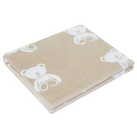 Одеяло байковое Ермошка Мишки Дымчатое 57-8 ЕТЖ Премиум