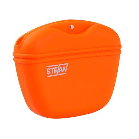 Сумочка для корма Stefan силиконовая оранжевая Stefan