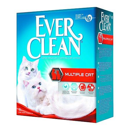 Наполнитель для кошек EVER CLEAN Multiple Cat комкующийся 6л 61103