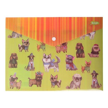 Папка-конверт Erhaft Собаки А4 LS-6530-2