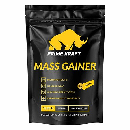 Гейнер Prime Kraft Mass Gainer банан 1500г