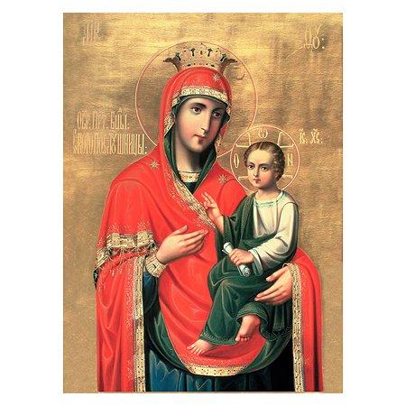 Холст для рисования по номерам Рыжий кот Икона Божией Матери Скоропослушница Х-6487