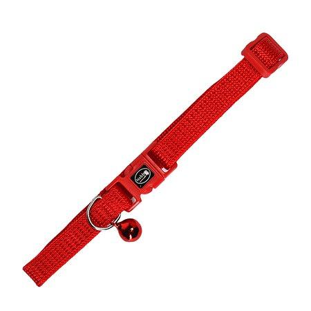 Ошейник для кошек Nobby с бубенчиком Лапки Красный 78003-01