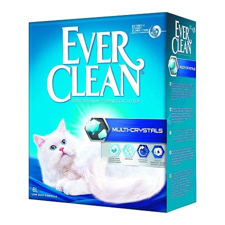 Наполнитель для кошек EVER CLEAN Multi Crystals с мультикристаллами комкующийся 6л