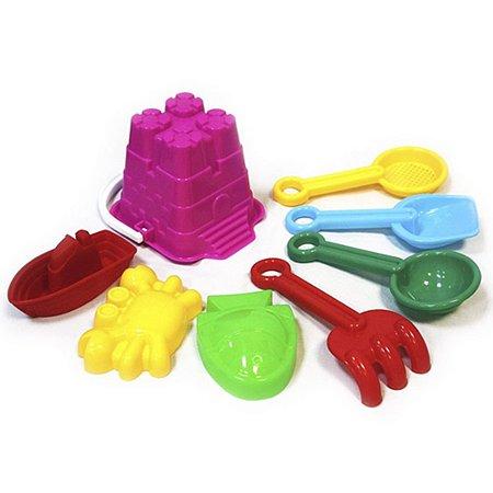 Песочный набор Devik Toys Ведерко с аксессуарами