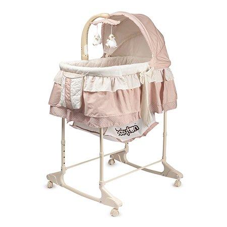 Кроватка-колыбель Babyton розовая