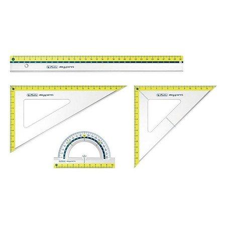 Набор геометрический Herlitz 4 предмета в ассортименте