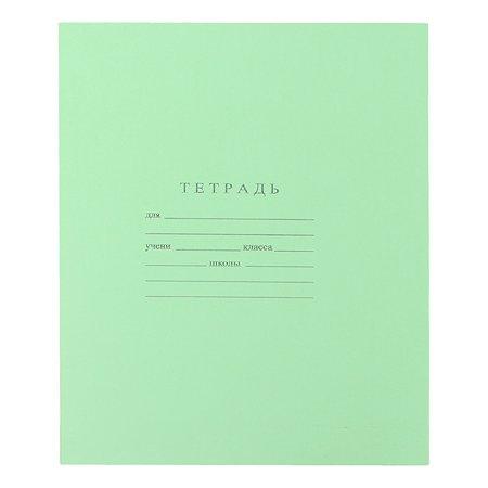 Тетрадь школьная Мировые тетради Клетка 18л Зеленая