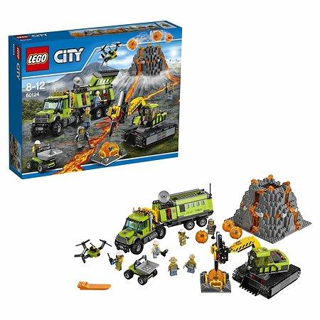 Конструктор LEGO City Volcano Explorers База исследователей вулканов (60124)