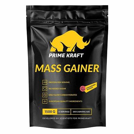 Гейнер Prime Kraft Mass Gainer клубника-банан 1500г