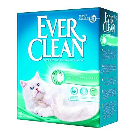 Наполнитель для кошек EVER CLEAN Aqua Breeze Scent аромат морской свежести комкующийся 6л
