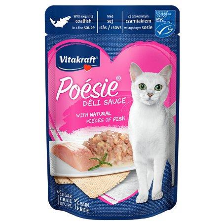 Корм для кошек Vitakraft Poesie сайда в соусе пауч 85г