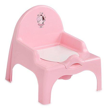 Стульчик туалетный Полимербыт Розовый 4313828