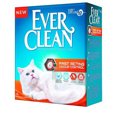 Наполнитель для кошек EVER CLEAN Fast Acting комкующийся 6л 67328