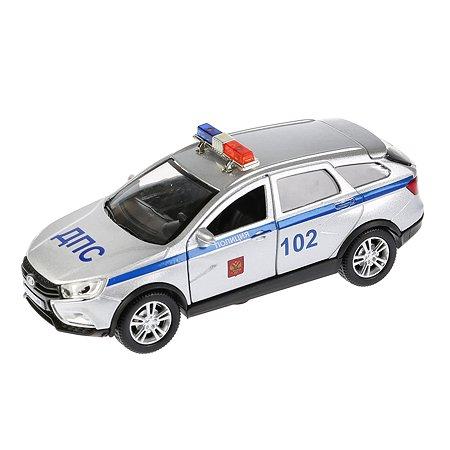 Машина Технопарк Lada Vesta Sw Cross Полиция инерционная 270425