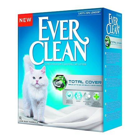 Наполнитель для кошек EVER CLEAN Total Cover комкующийся 6л 70651