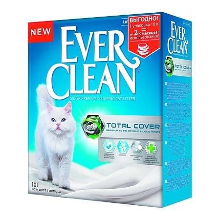 Наполнитель для кошек EVER CLEAN Total Cover комкующийся 10л 70653